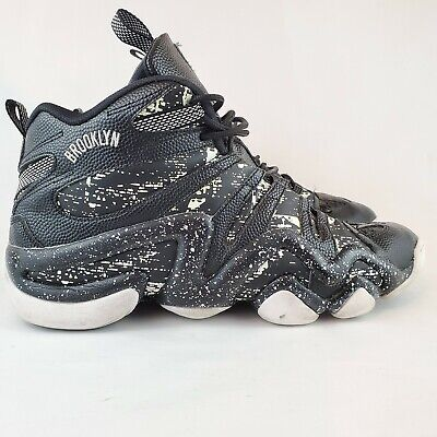 Adidas Men 13 Black White Crazy8 Brooklyn Nets Basketball Shoes S83938 Free Ship