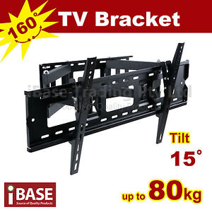 LCD LED PLASMA FLAT TV WALL MOUNT SWIVEL BRACKET 37 42 46 50 52 60 62 63 64 65