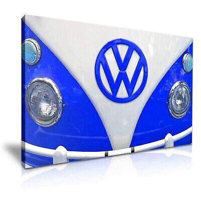 Blue Retro Camper Van Modern Art Canvas Print~ 5 Size to Choose ()