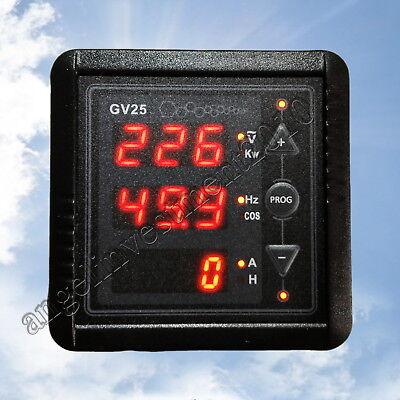LED Power Generator Voltage Hz Kw Power COS Hour Time Digital Panel Meter 6 in 1
