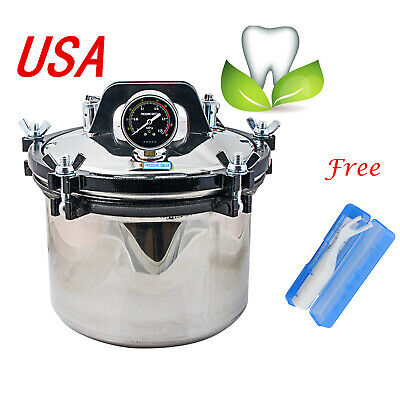 USA 8L Portable Steam Autoclave Sterilizer Dental Stainless Steel Heating System for sale  Shipping to Canada