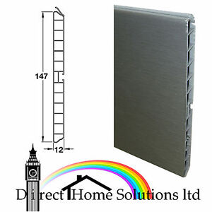 STAINLESS STEEL EFFECT KITCHEN PLINTH PANEL - FREE NEXT DAY DELIVERY