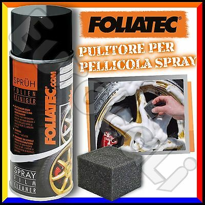 Foliatec Pulitore Schiuma per Pellicola Spray 400ml Wrapping Tuning Cerchi Auto