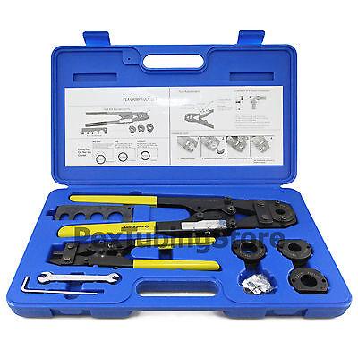 Pex Crimp Crimper Tool Kit With Decrimper For 38 12 58 34 Tubing