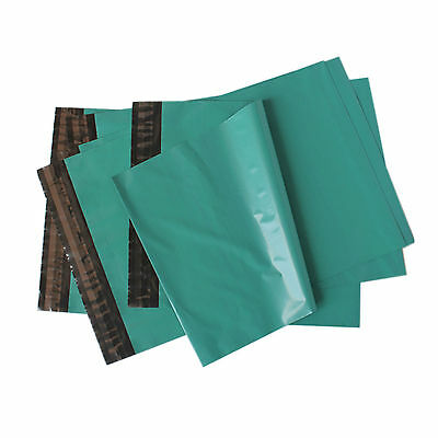 100 Strong Green Plastic Mailing Postal Poly Postage Packing Bags 8 x 12 20x35cm