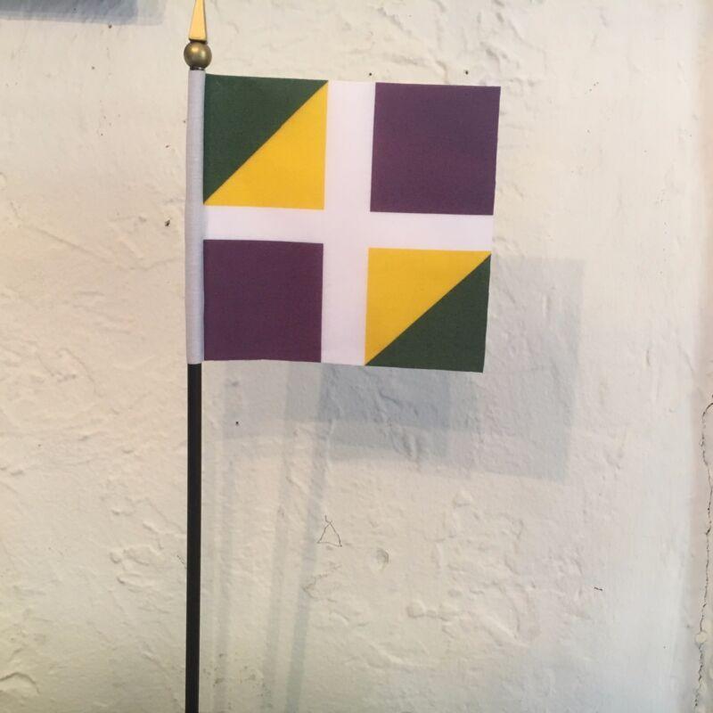 "Agenois French Regiment Standard - American Revolution Mini Desk Flag 4"" x 4"""