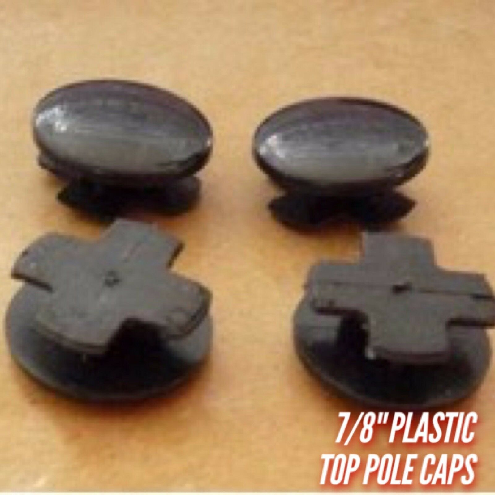 Wire Shelving Pole Caps - 4 Pack