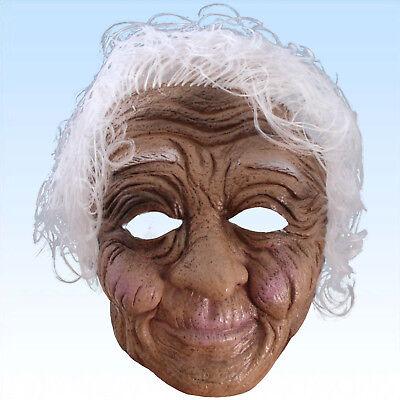 Maske alte Frau Oma Greisin Großmutter Uroma Omamaske Halbmaske Faschingsmaske ()