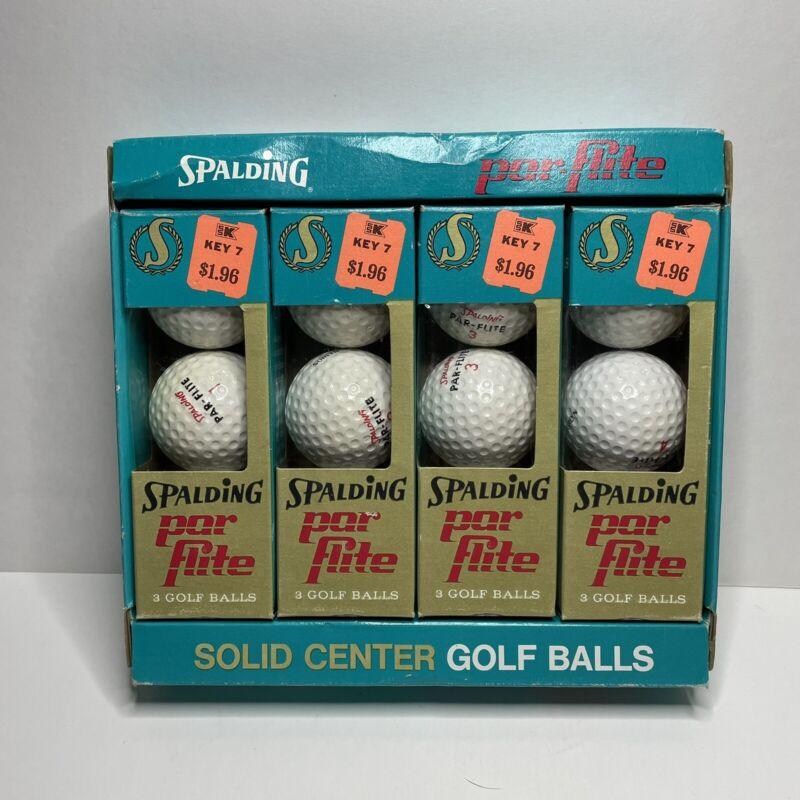 12 Vintage Spalding Surlyn Par-Flite Golf Balls in Box