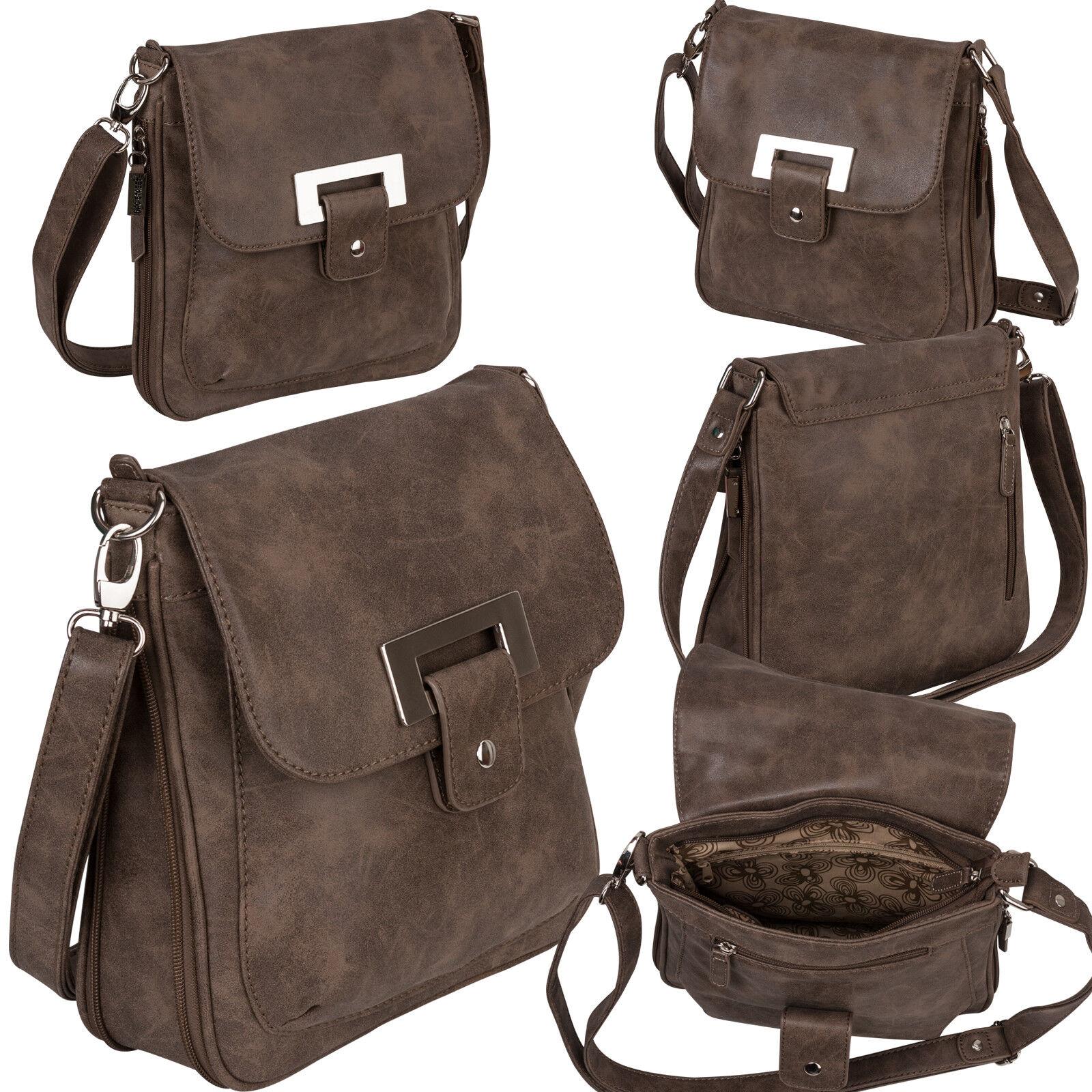 Bag Street Damentasche Umhängetasche Handtasche Schultertasche K2 T0101 Braun