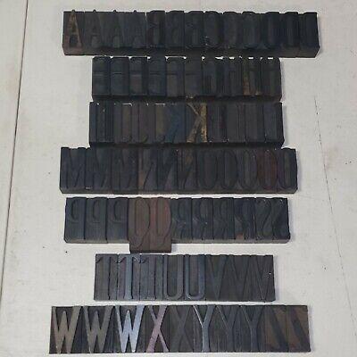 Antique 2 Letterpress Wood Type Printing Blocks Alphabet Uppercase Letters Lot6