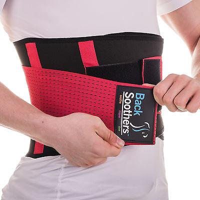 BackSoothers® BackPro Massaging Lumbar Lower Neoprene Back Support Brace Belt
