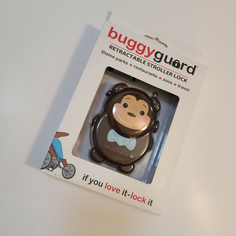 Buggy Guard Retractable Stroller Lock Cute Monkey New in Box