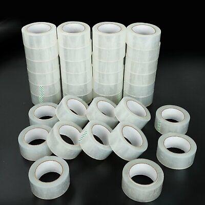 72 Roll 1.9 110 Yard 330 Clear Carton Sealing Packing Shipping Tape 1.7 Mils