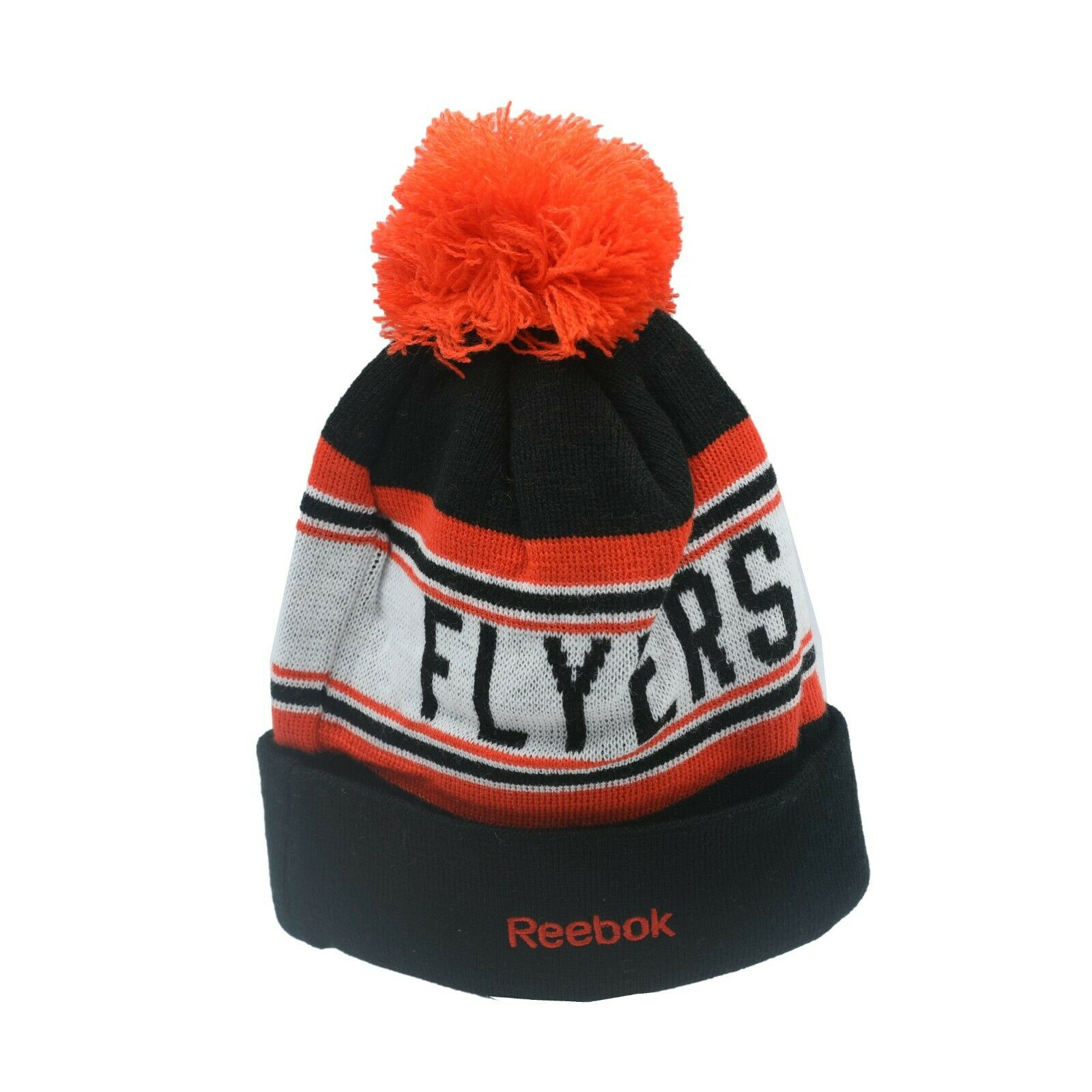 0048dee756c Philadelphia Flyers NHL Reebok Youth Boys (8-20) Cuffed Pom Knit Winter  Beanie