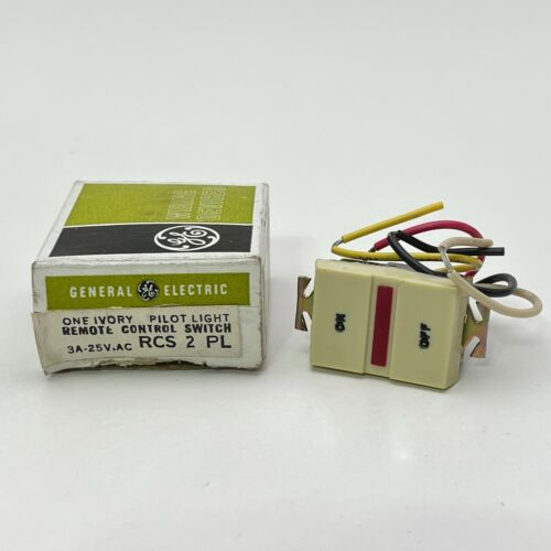 General Electric RCS2 GE Pilot Light Remote Control Switch Ivory