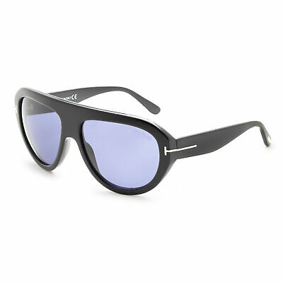 Tom Ford Men's Felix FT0589-01V 59 Blue Lens (Tom Ford Sunglass)