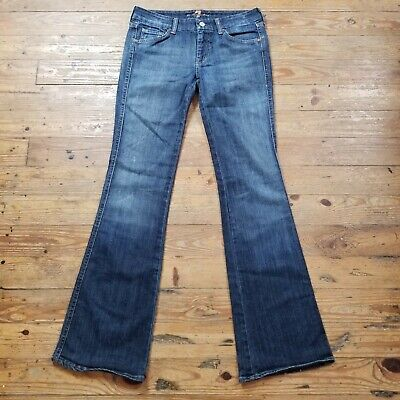 7 Seven for all Mankind A Pocket Boot Cut to Flare Blue Denim Jeans Size 30 x 33 Seven For All Mankind Flare Jeans