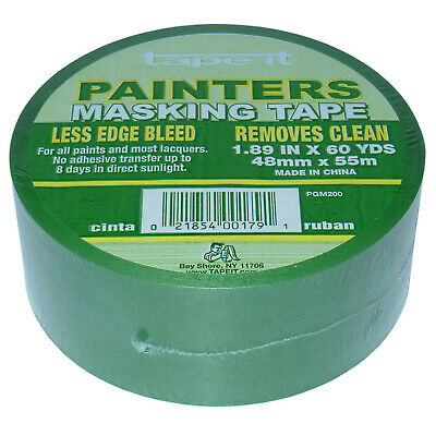 Green Painters Masking Tape 1.89 X 60 Yard 1-roll Clean 8-day Removal 2 Wide