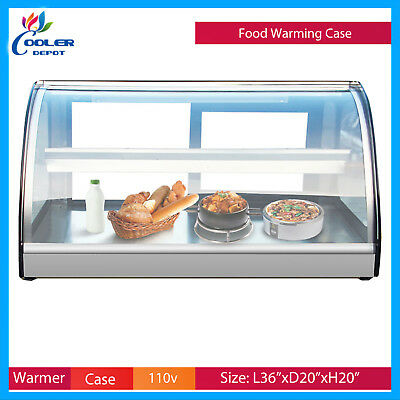 36 Dry Warmer Display Case Bakery Deli Restaurant Buffet Hot Food Cooler Depot