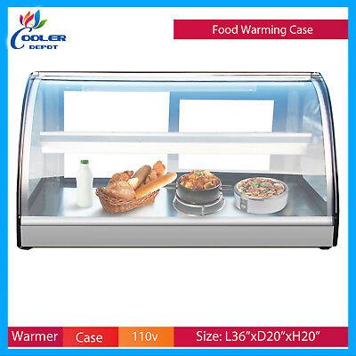 36 Dry Warmer Display Case Bakery Deli Restaurant Buffet Hot Food Cooler Depot