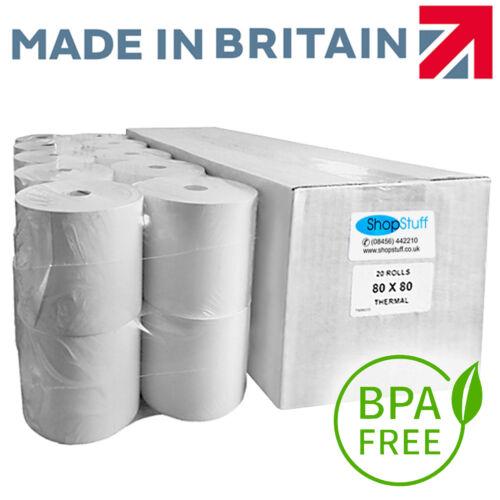80x80mm BPA Free Thermal Paper Till EPoS Receipt Printer Rolls 80x80mm Rolls (E7