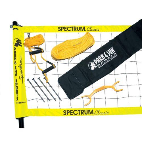 Park & Sun TS-CL Spectrum Classic Volleyball Set Yellow Net or Green Net
