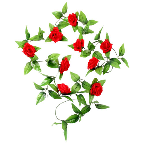 2x8ft artificial rose garland silk flower vine ivy wedding garden 2x8ft artificial rose garland silk flower vine ivy wedding garden decoration uk mightylinksfo