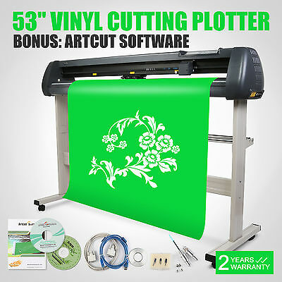 "53"" VINYL CUTTING PLOTTER CUTTER CUT DEVICE PRINTER ARTCUT SOFTWARE"
