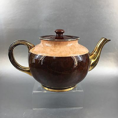 Antique Ellgeave Pink Brown Betty Teapot Pottery Vintage England English