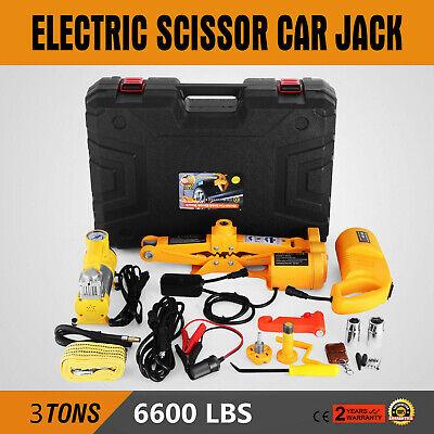 3 Ton Automotive Electric Scissor Car Jack Lift 12V Van 1/2