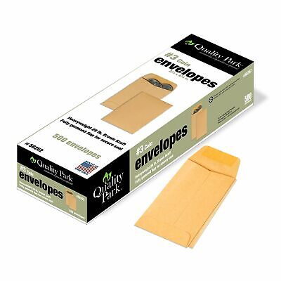 Quality Park 3 Coin And Small Parts Envelopes Gummed Brown Kraft 2.5x4.25 ..