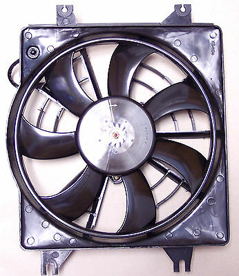 HAK1103 AC Condenser Cooling Fan Assembly Fits: 1995-1999 Hyundai Accent 1.5L