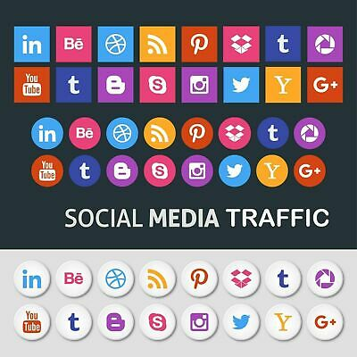 Unlimited Website Visitors For From Popular Social Platforms