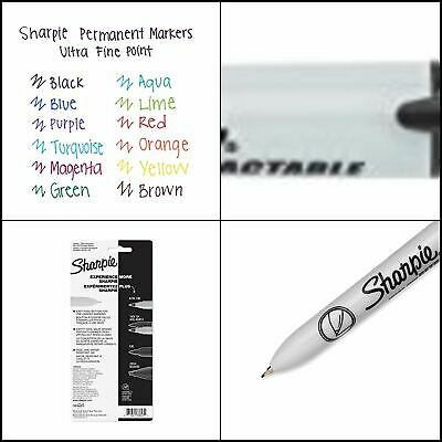 Sharpie Retractable Permanent Markers Ultra Fine Point Black 3 Count 3-count
