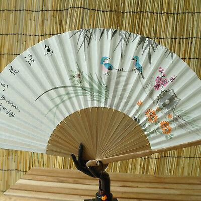 Handmade Traditional Fan Wushu Taichi Silk Bamboo Tiger Hand Made Hobby Gift