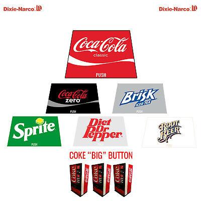 6 Dixie Narco Dncb 240 138 Vending Machine Coke Big Button 12 Oz Can Label