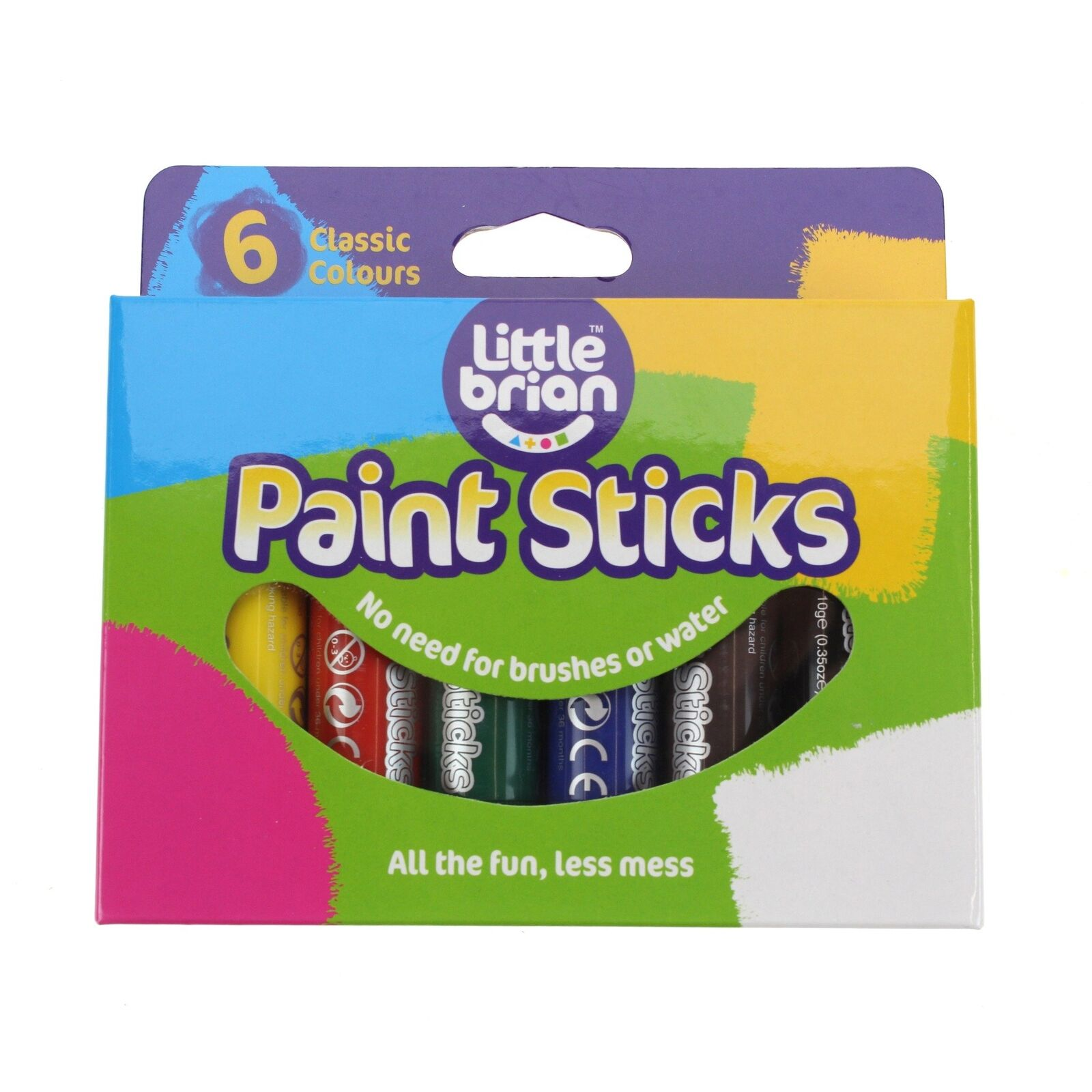 Little Brian LBPS10CA6 Classic Colours Paint Sticks (pack of 6) | eBay
