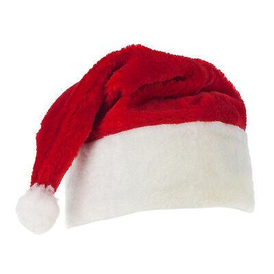 Weihnachtsmannmütze Plüschmütze Nikolaus Party Kostüm Weihnachtsfeier Karneval