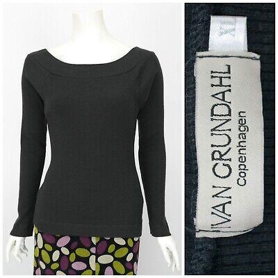 Womens Ivan Grundahl Copenhagen Long Sleeve Jumper Top Wool Grey Jersey Size XL