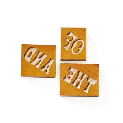 Letterpress Set Of Catchwords No. 04 Wood Type 10 Line 422 Mm - 3 Pieces
