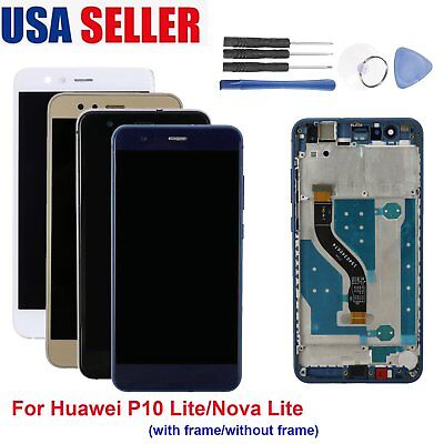 Complete LCD display Touch Screen Digitizer +Frame for Huawei P10 Lite/Nova Lite Complete Lcd Display Screen
