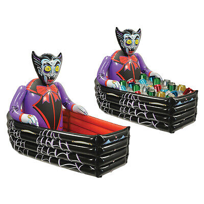 HALLOWEEN INFLATABLE VAMPIRE COFFIN COOLER PARTY HAUNTED HOUSE PROP DECORATION