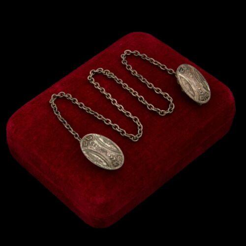Antique Vintage Nouveau 925 Sterling Silver UNGER BROS Sweater Collar Clip 10.2g