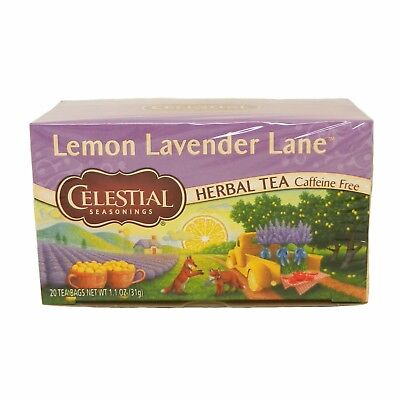 Celestial Seasonings Herbal Tea Lemon Lavender Lane, Chamomile, Honey Vanilla