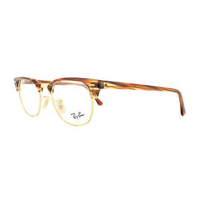 Ray-ban Brille Rahmen 5154 Clubmaster 5751 Braun Beige Gestreift 51mm Mens Damen