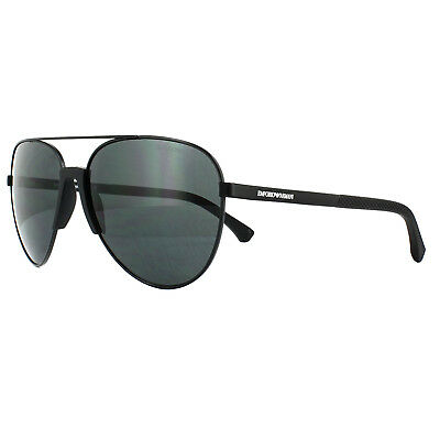 Emporio Armani Sunglasses 2059 320387 Matt Black Grey