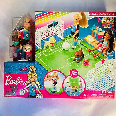 Barbie Dreamhouse Adventures Chelsea Soccer Play Set - Doll & Pups