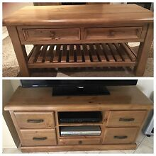 Coffee table matching TV stand $450 both Beaumont Hills The Hills District Preview