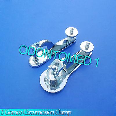 2 Pcs Gomco Circumcision Clamp 1.3cm 1.9cm Surgical Instruments